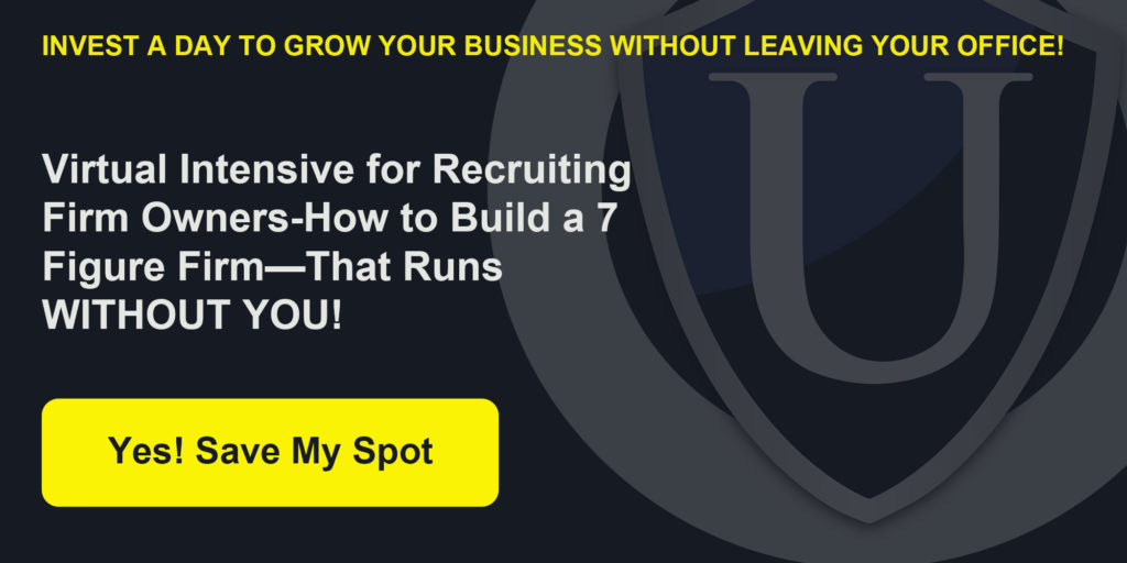 Virtual training summit for recruiting firm owners